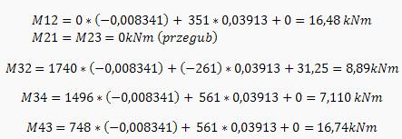 Obliczenia do wykresu M